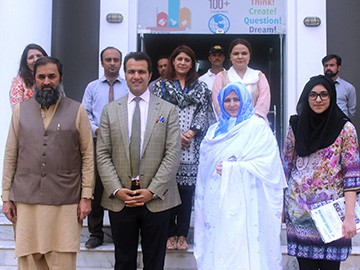 Visit of Federal Education Minister