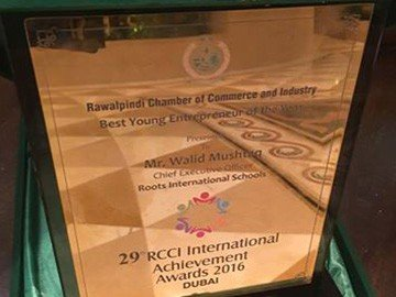 CEO RIS awarded Best Young Entrepreneur Award by RCCI in Dubai