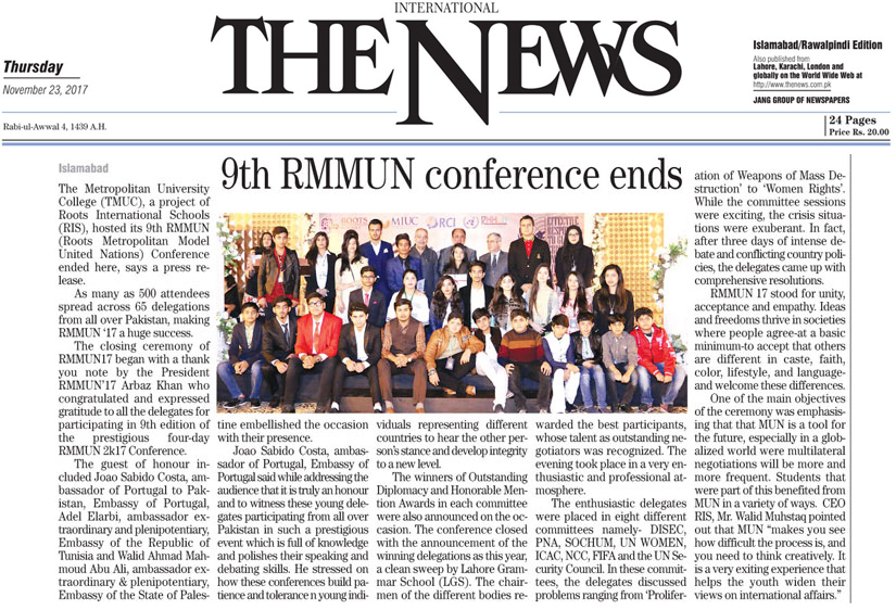 9th RMMUN confernce ends