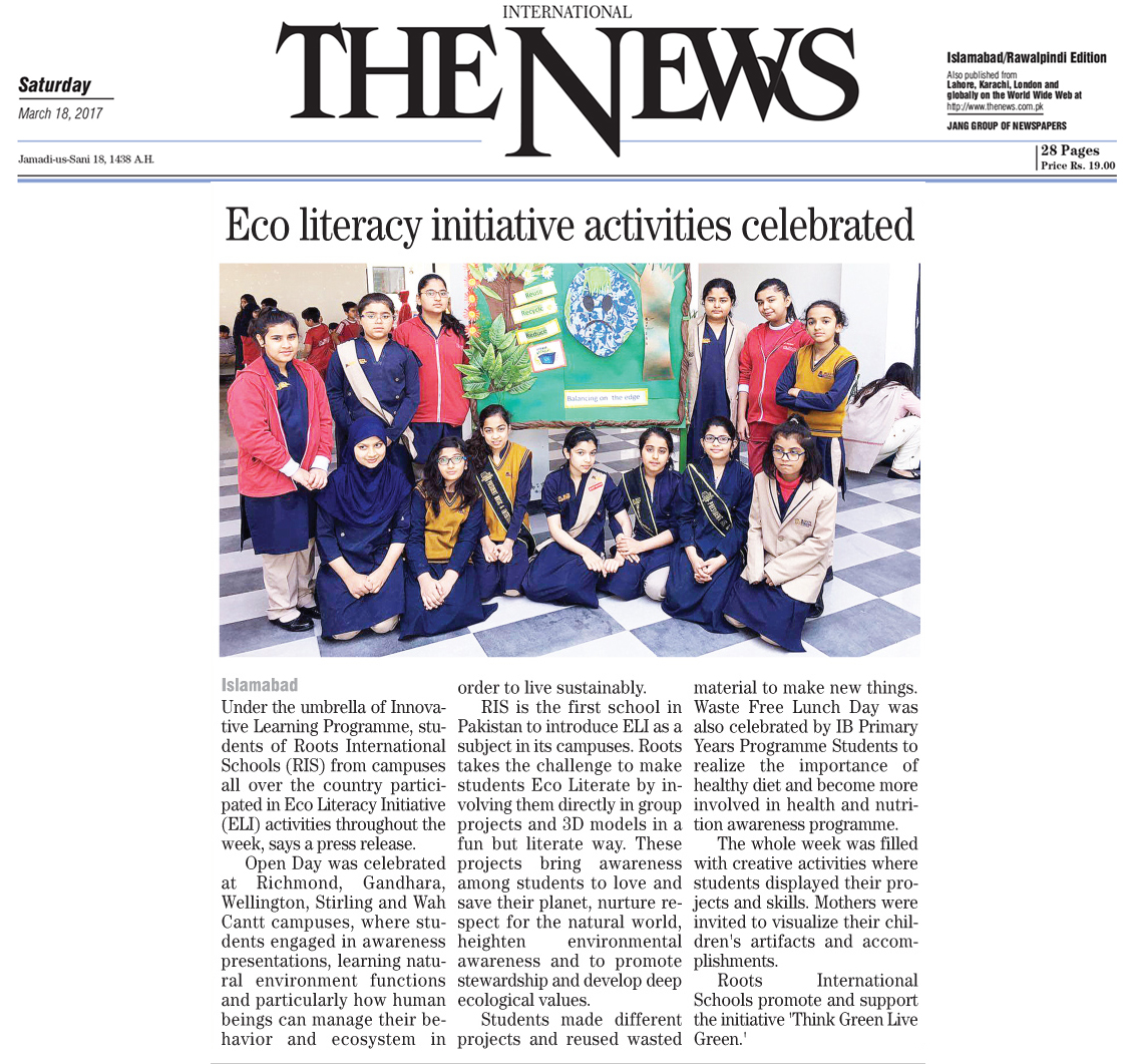 Eco Literacy initiative activities celebrated
