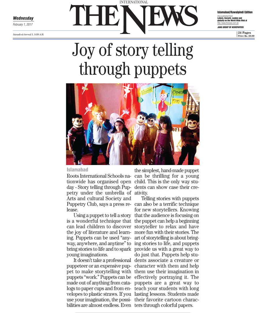 Joy of story telling through puppets
