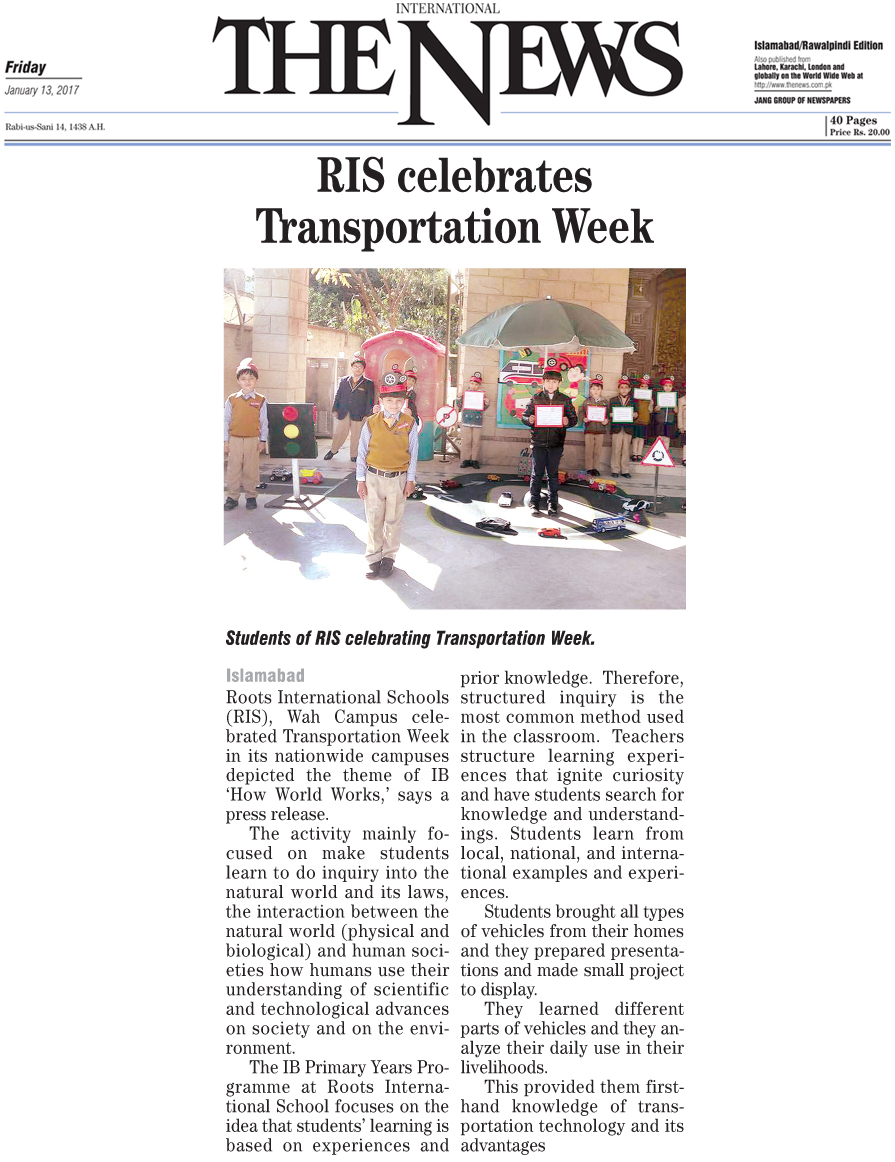 RIS Celebrates Transportation Week