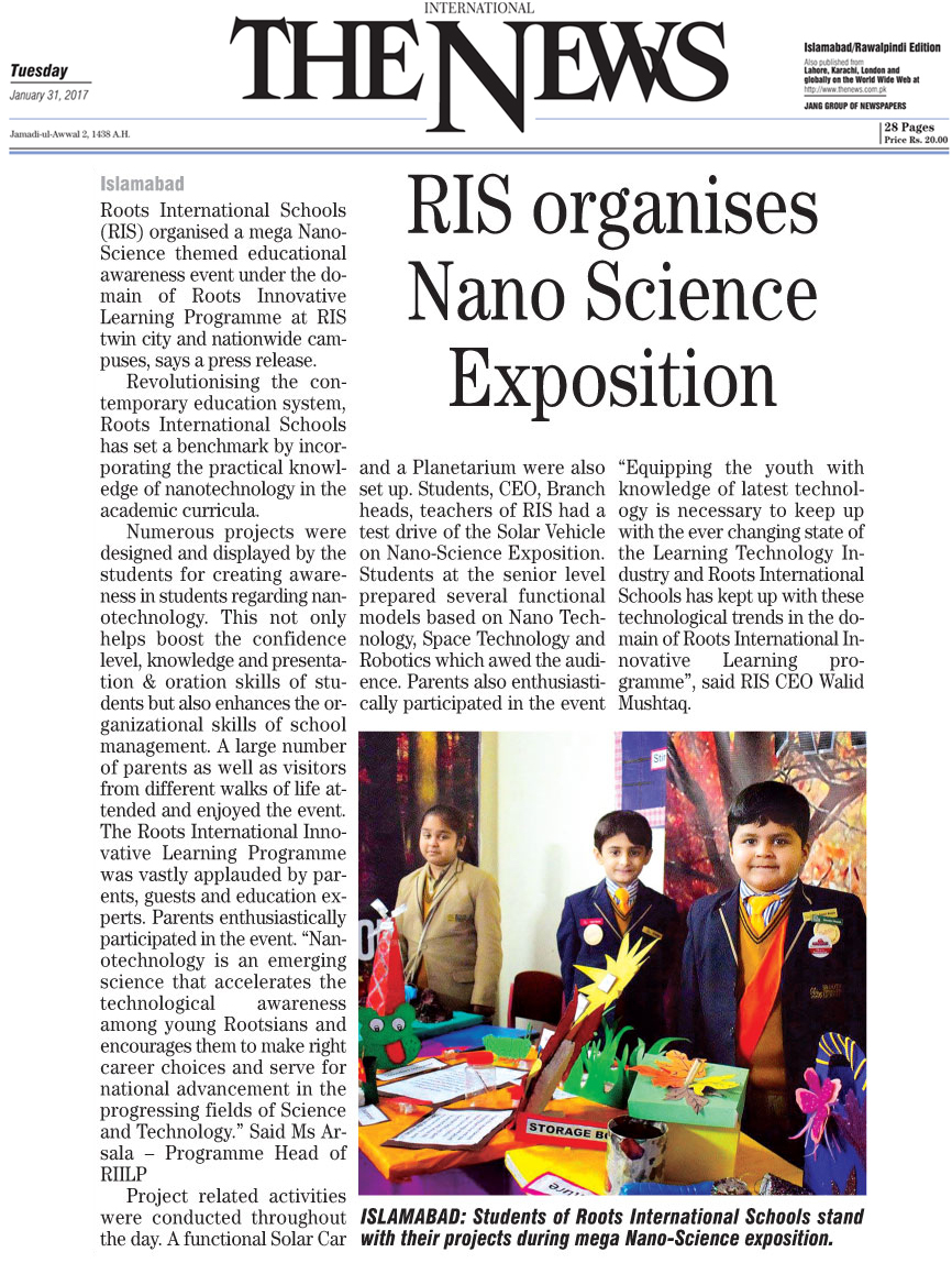 RIS Organises Nano Science Exposition