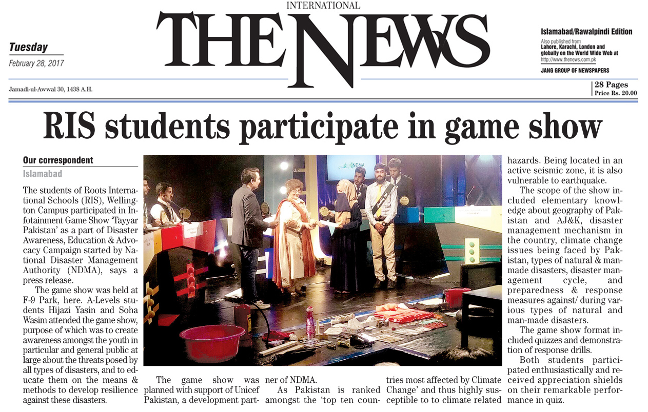 RIS students participate in infotainment game show