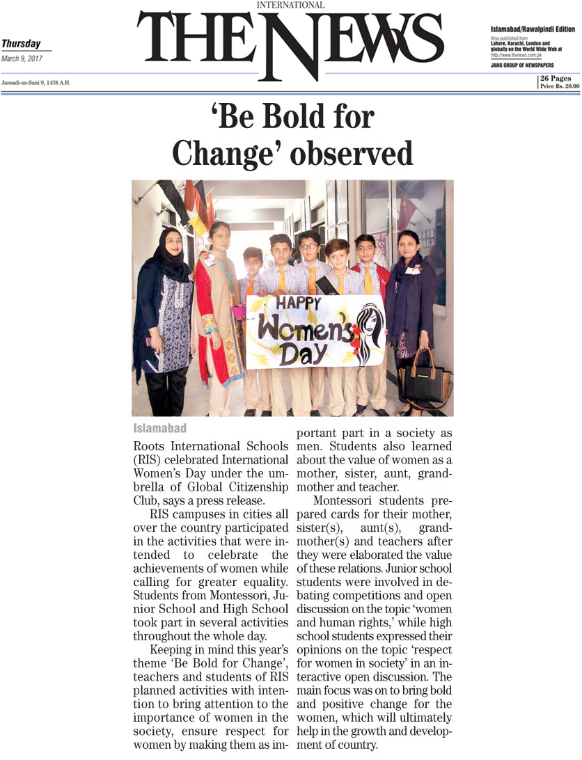 be bold for change observed