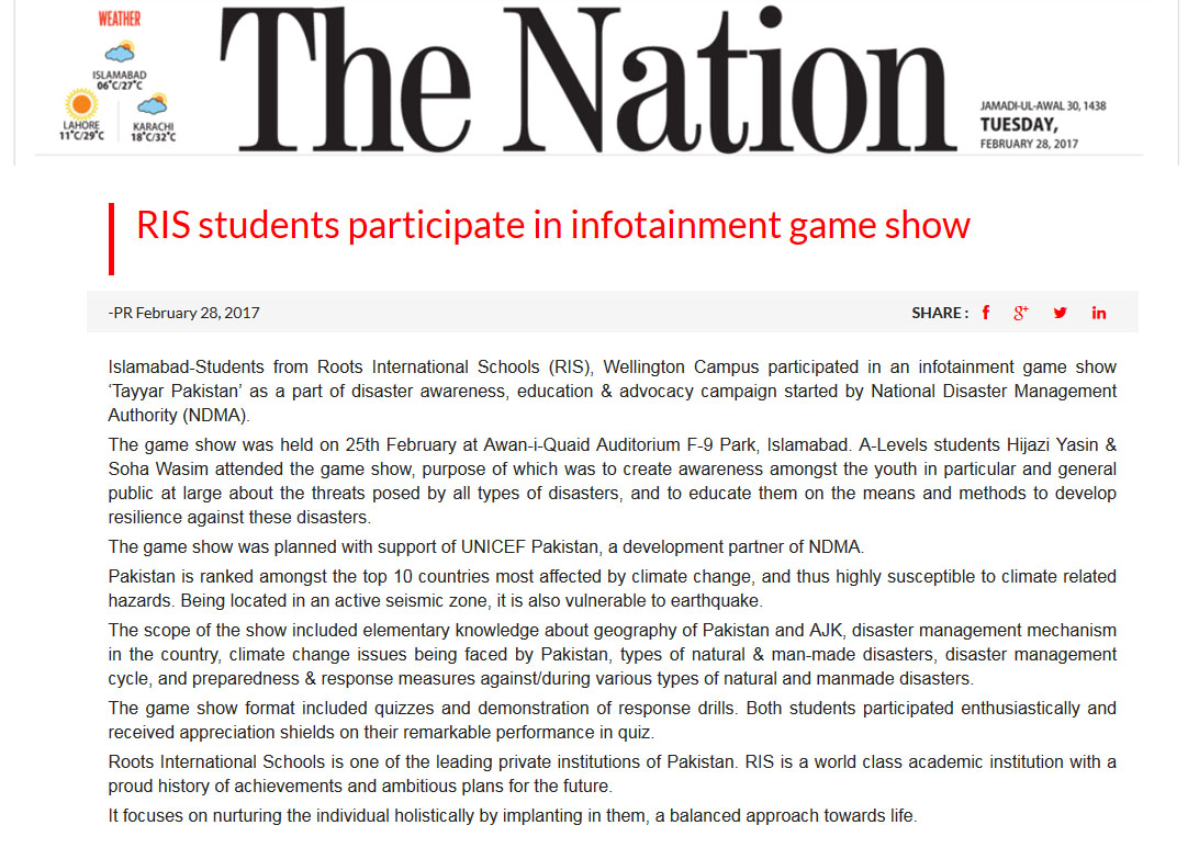 students participate in infotainment game show