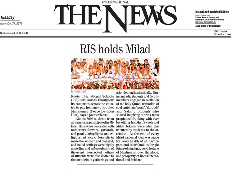 RIS holds Milads