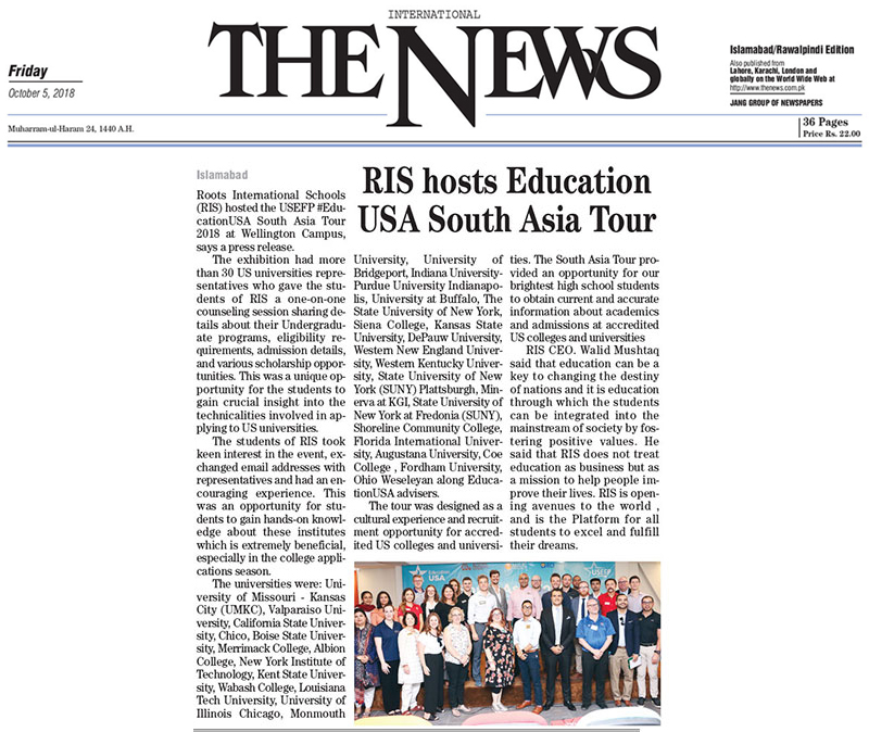 RIS hosts 'Education USA South Asia Tour'-1