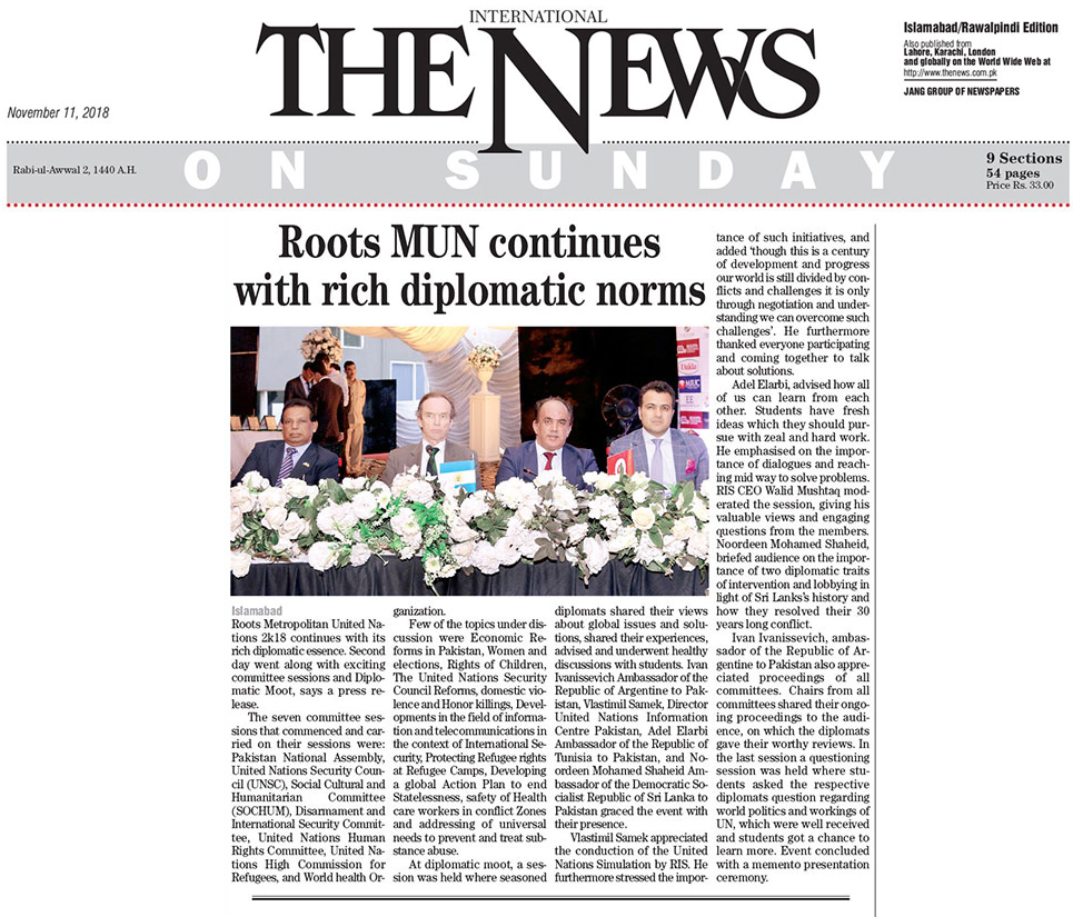 Roots MUN countinues with rich diplomatic norms